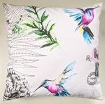 Bright Hummingbird and Butterfly Cushion Cover 16""